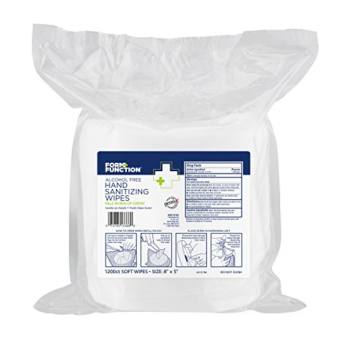 Form + Function Hand Sanitizing Wipes, 1200 wipes per Pack, 2-Pack