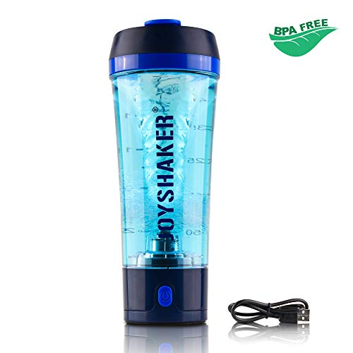 JOYSHAKER Stylish Electric Shaker Bottle - Smart Automatic Shaker Mixer with Rechargeable Electric USB for Easily Make a Variety of Drinks - Removable and Easy to Clean Protein Shaker Bottle (Blue)