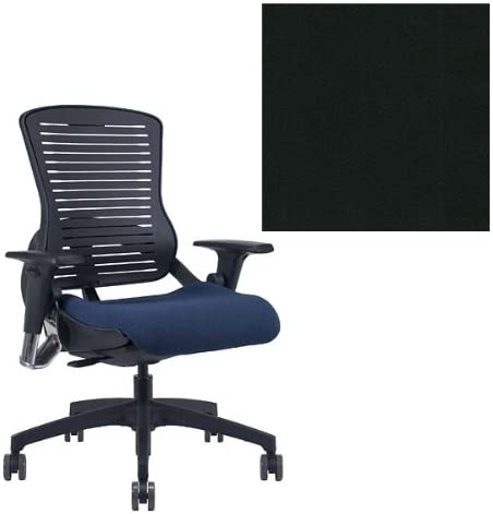 Office Master OM5 Black Frame Ergonomic Modern Stylish Office Chair with Adjustable Arms - Grade 1 Fabric Celestial Oberon
