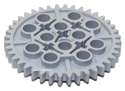 LEGO Technic Large Gear 40 Tooth Mindstorms NXT Light Grey Part 3649 Piece (Quantity 10 pcs)