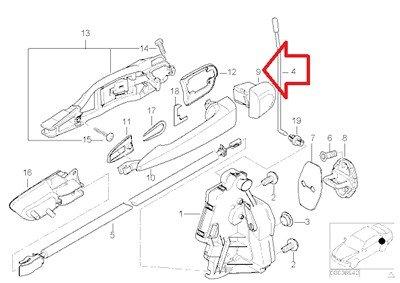 BMW Genuine Outside Door Handle Cover (Primered) Rear Left for 320i 323i 325i 325xi 328i 330i 330xi