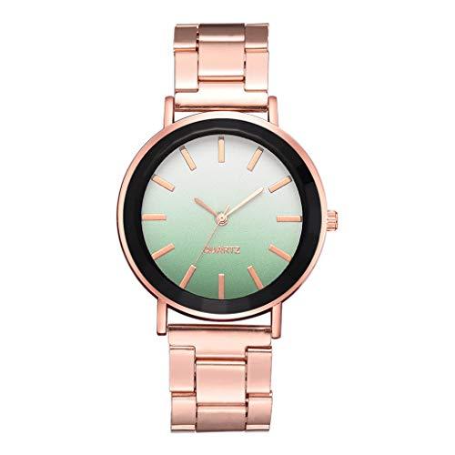 XBKPLO Women Watches Quartz Gradient Luxury Analog Wrist Temperament Steel Strap Bracelet Rose Gold Jewelry Gift