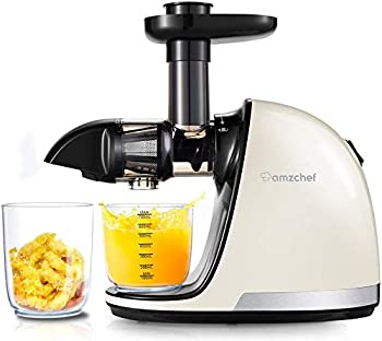 AMZCHEF Slow Juicer WIth Quiet Motor And Reverse Function Masticating Juicer