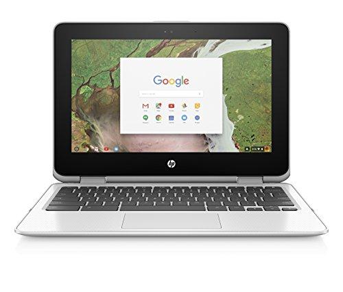 HP Chromebook x360 11-inch Convertible Laptop, Intel Celeron N3350, 4GB RAM, 32GB eMMC storage, Chrome OS (11-ae040nr…