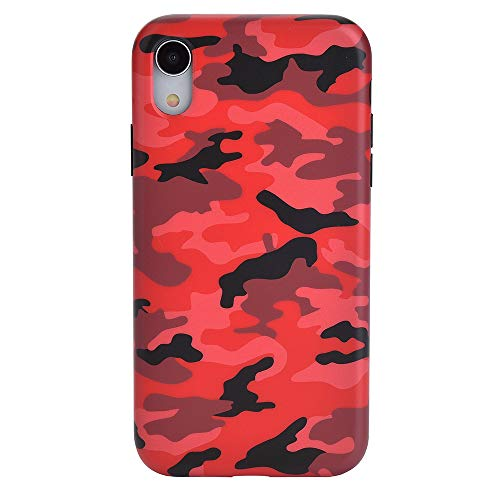 Velvet Caviar Compatible with iPhone XR Case Camo - Cool Protective Phone Cases for Girls & Men (Red Camouflage)