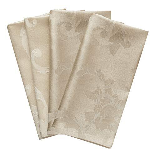 "Benson Mills Harmony Scroll Set of 4 Napkins (Birch, 18"" x 18"" Napkin)"