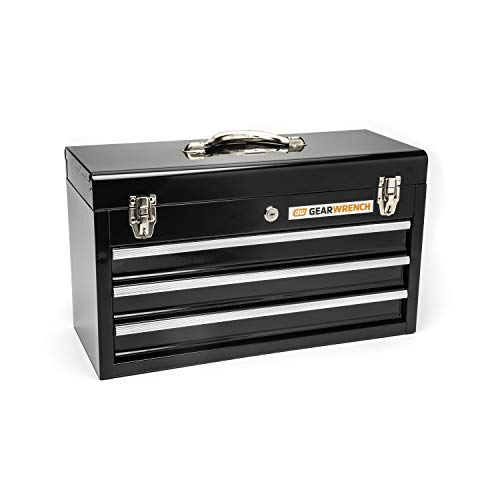 "GEARWRENCH 20"" 3 Drawer Steel Tool Box, Black - 83151"