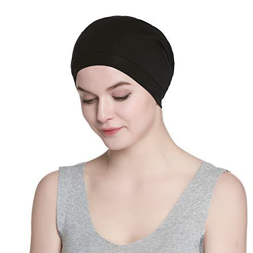 Satin Lined Sleep Cap Slouchy Slap Hat — Soft Elastic Band, Stay All Night