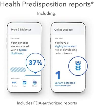 23andMe Health + Ancestry Service: Personal Genetic DNA Test Including Health Predispositions, Carrier Status, Wellness, and Trait Reports (Before You Buy See Important Test Info Below) 3
