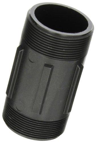 "Banjo NIP200-4 Polypropylene Pipe Fitting, Nipple, Schedule 80, 2"" NPT Male x 4"" Length"