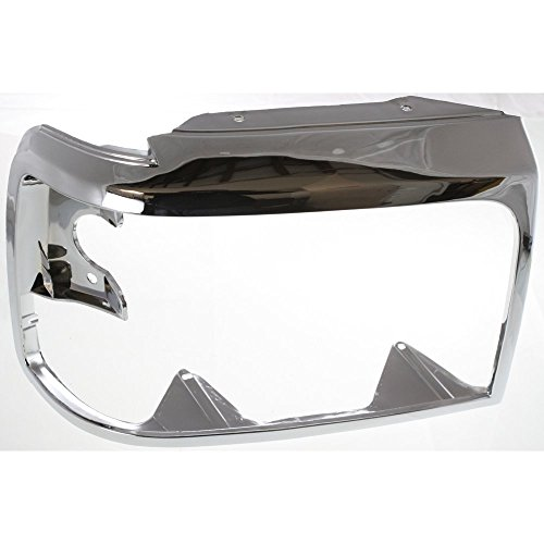 Headlight Door compatible with Ford F-Series 92-97 RH Chrome Right Side