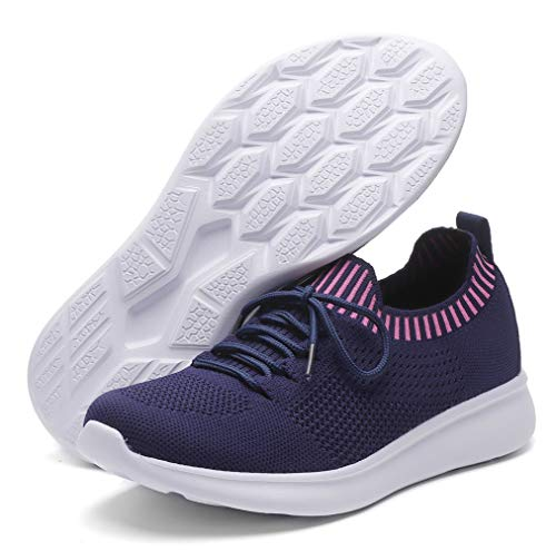 DADAWEN Women's Sneakers Lightweight Casual Breathable Athletic Walking Running Shoes (Size:US5-US12)