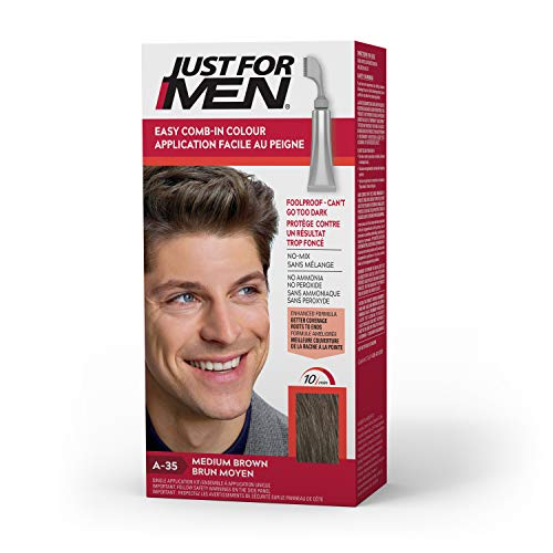 Just For Men A-35 Medium Brown AutoStop Comb-In 12 Ounce