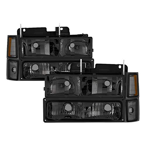 Spyder Auto HD-JH-CCK88-AM-SM-SET Crystal Headlight,Smoke