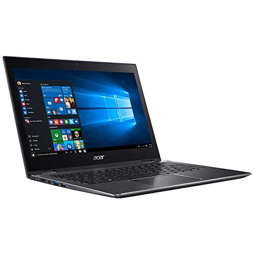"""Newest Acer Spin 5 13.3"""" Touch Screen 2-in-1 Laptop, 8th Gen Intel Core i7-8550U, 8GB Memory, 256GB SSD, Backlit Keyboard, SP513-52N-888R, Steel Grey, More Upgrade Available"""