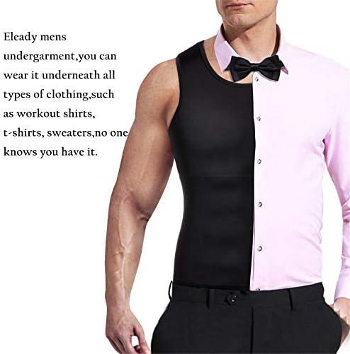 Mens Compression Shirt Slimming Body Shaper Vest Workout Tank Tops Abs Abdomen Undershirts 5
