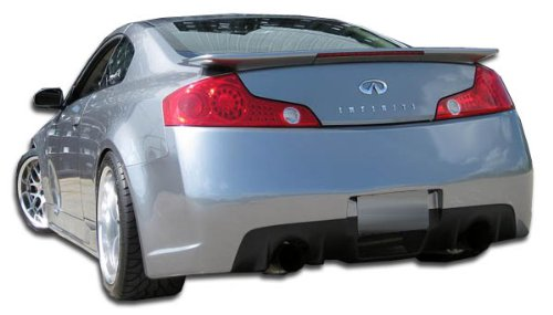 Extreme Dimensions Duraflex Replacement for 2003-2007 Infiniti G Coupe G35 C-Sport Rear Bumper Cover - 1 Piece