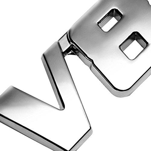 3D Letter Metal Emblem V8 Badge
