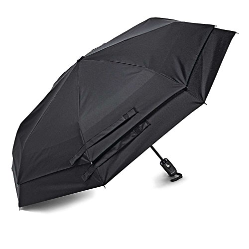 Samsonite Windguard Auto Open/Close Umbrella, Black, One Size