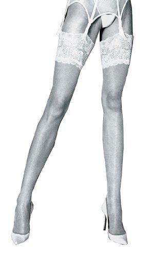 Eleonora 30 Denier Soft Luxury Deep Lace Top Stockings
