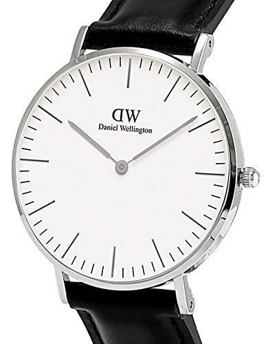 Daniel Wellington Men's 0206DW Sheffield Watch with Black Leather Band