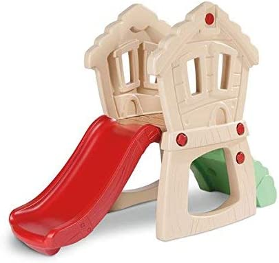 Little Tikes Hide And Seek Climber Slide red and green with tunnel and windows