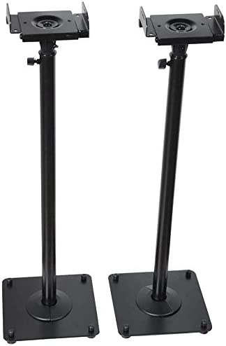 Videosecu 2 Heavy Duty Pa Dj Club Adjustable Height Satellite Speaker Stand Mount