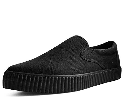 T.U.K. Shoes Unisex-Adult Sneakers, Slip Resistant Shoes, Black Basic Twill Pointed EZC