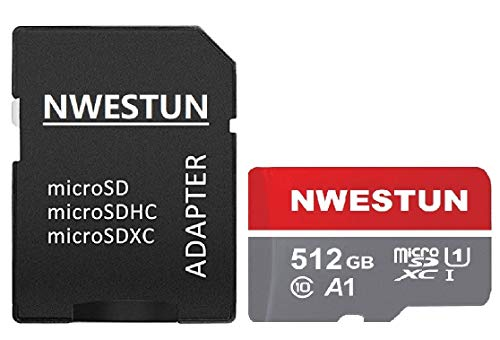 512GB Micro SD Card Memory Card with Adapter - 100MB/s, C10, U1, Full HD Available, A1, Micro SDXC UHS-I Memory Card 512GB LIUJIA13