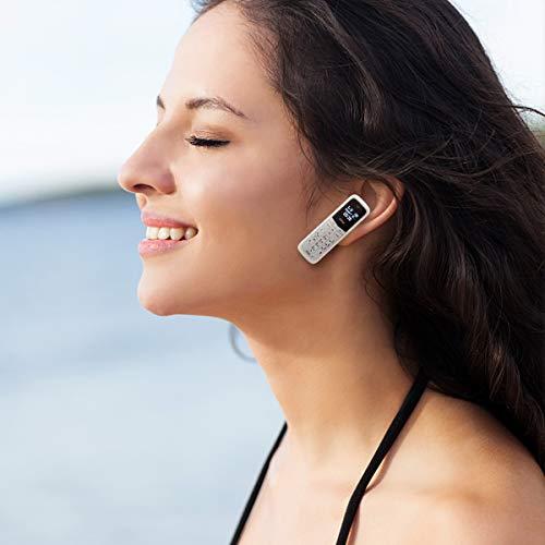 Mini Cell Phones Unlocked Bluetooth- Tiny Phone World Smallest Mini Phone GSM Bluetooth Handset Mini Phone Bluetooth Dialer Supported Dual Sim Card BM50(White)