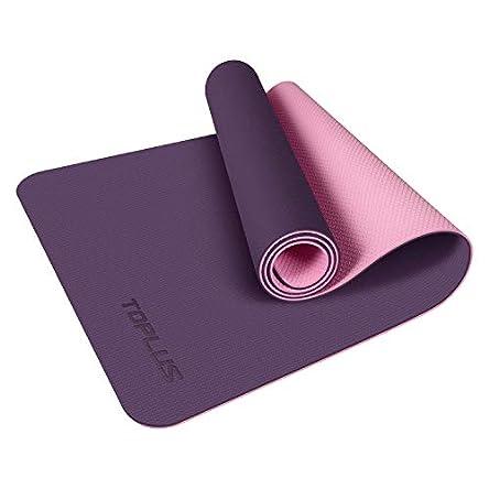 TOPLUS Yoga Mat, Non-Slip Texture Pro 1/4 Inch Thick...