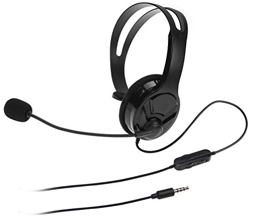 AmazonBasics Gaming Chat Headset for PlayStation 4 with Microphone - 4 Foot Cable, Black