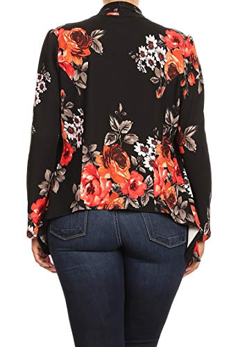 Women's Womens Lightweight Classic Draped Open Front Blazer with Plus Size