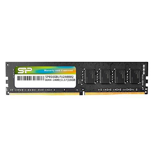 Silicon Power 16GB-DDR4-RAM-2400MHz (PC4 19200) 288 Pin 1.2V CL17 Non ECC Ubimber UDIMM-Desktop بدون سر و صدا