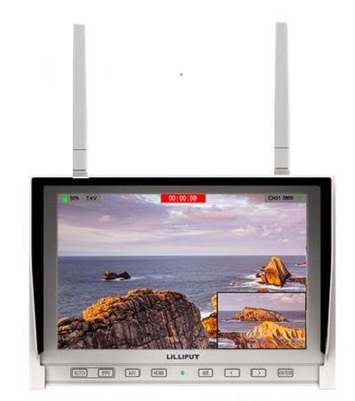 """LILLIPUT 7"""" 339/DW IPS 1280x800 HDMI in Field Monitor with Auto Searching Function Dual 5.8G Hz for Aerial Flying Wireless DJI Phantom 2 (White) by LILLIPUT Official Seller :VIVITEQ"""