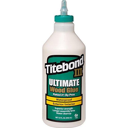 Titebond 1415 III Ultimate Wood Glue, 32-Ounce Bottle,Tan, 1 Qt