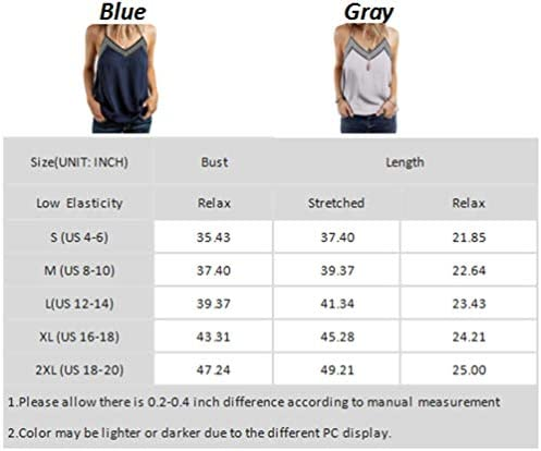 BLENCOT Women's V Neck Strappy Embroidery Tank Tops Loose Casual Sleeveless Shirts Blouses 3