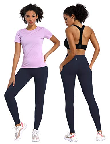 "BUBBLELIME 22""/25""/26""/27""/28"" Inseam 3 Styles Out Pockets High Waist Yoga Pants Women Workout Leggings Tummy Control Running"