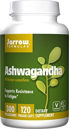 Jarrow Formulas Ashwagandha 300 mg, Supports Resistance to Fatigue, 120 Veggie Caps