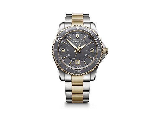 Victorinox Maverick Mens Analog Swiss Quartz Watch with Stainless Steel Bracelet V249126