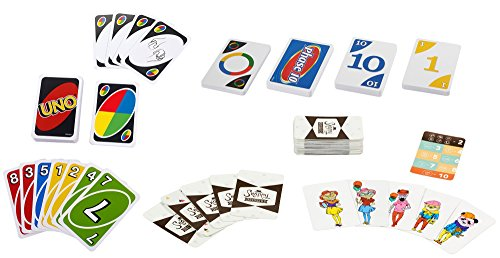 Mattel Games: 3-in-1 - UNO, Phase 10, and Snappy Dressers (Tin Box)