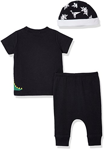 Silly Apples Baby Toddler Boys or Girls Outfit 3-Piece T-Shirt, Pant and Hat Set