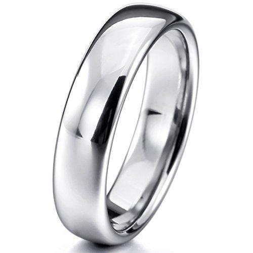 INBLUE Women,Men's Wide 4mm 6mm Tungsten Ring Band Comfort Fit Wedding