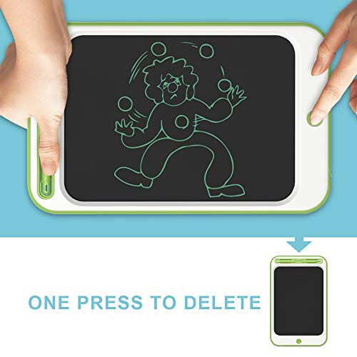 JONZOO LCD Writing Drawing Tablet 10 inch Electronic Doodle Board with Screen Lock Digital Sketch Pad Erasable Reusable eWriter Paperless Tool for Kids Adults at Home/School/Office