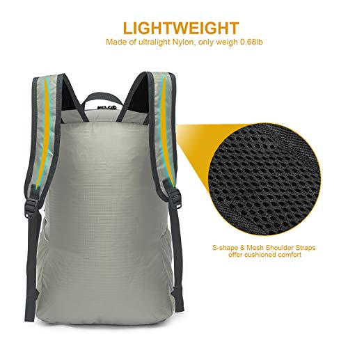 WindTook Packable Hiking Backpack Durable Foldable Travel Daypack for Men Women Camping Travel