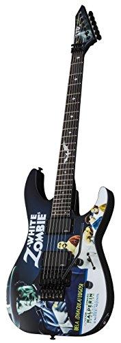 ESP LTD KH-WZ Signature Series Kirk Hammett White Zombie Electric Guitar with Case