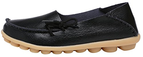 Serene Womens Leather Cowhide Casual Lace Up Flat Driving Loafers