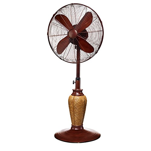 DecoBREEZE Adjustable Height Oscillating Outdoor Pedestal Fan, 18 In, Kailua