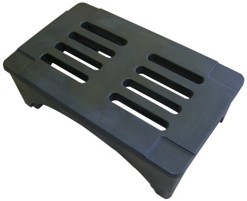 """Forte Products 8002027 SureStack Plastic Dunnage and Storage Rack, 2000 Lb. Load Capacity, 36"""" L x 22"""" W x 12"""" H, Black"""