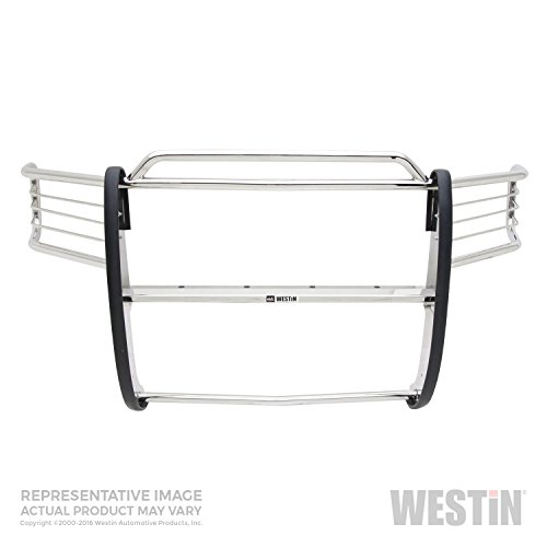 Westin 45-0180 Sportsman Polished Stainless Steel Grille Guard - 1 Piece